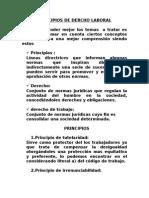 Principios Fundamentales de Derecho Laboral  Guatemalteco