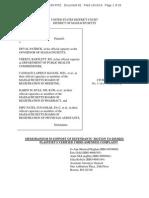 Oct 10, 2014 - Zogenix vs Deval Patrick (MA) - Defendant's Motion to Dismiss Main Supporting Document