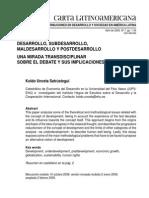 02 Desarrollo Subdesarrollo madesarrolloPostdesarrollo - CartaLatino Americana 07 Unceta 09.pdf