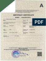 Certificate Evo Outdoor