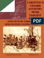 Carleton G Cramer Ancestry From Earliest  Records