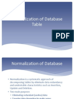 Normalization of Database Table