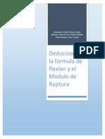 Deduccion de la Formula de Flexion