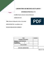 Informe #2- LAB- Mecánica de Fluídos.doc