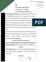 Incendio Barletta 2009.Comparsa Di Costituzione INA Assitalia SpA