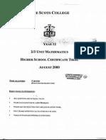 Scots 2001 2U Trial + Solutions