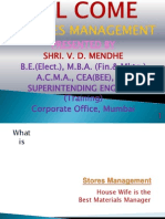 Store Management New Ppt