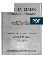 Elman Mischa Favorite Encores Violin