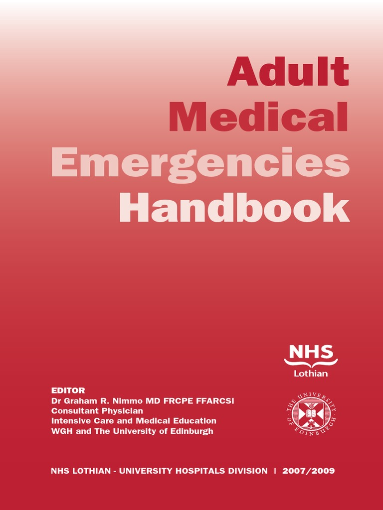 Adult Medical Emergencies Handbook | Myocardial Infarction |  Cardiopulmonary Resuscitation
