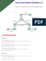OSPF Configuration in Cisco Router