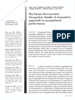 The Person Environment Occupation (PEO) Model of Occupational Therapy