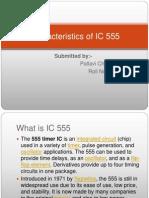 Characteristics of IC 555