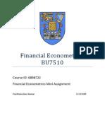 Econometrics Mini Assignment