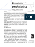 Impact of Organizational Justice in an Expatriate Work Environment
