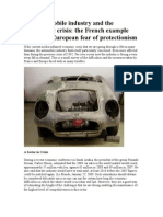 The Automobile Industry and the Economic Crisis