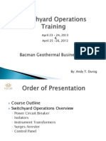 Order of Presentation for switchyard operation