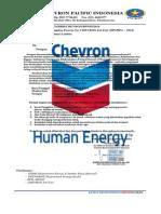 Surat Resmi Pt.chevron Pacific Pekanbaru.