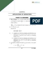 12 Mathematics Impq Applications of Derivatives 01