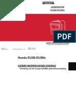 Handleiding en Instructieboekje Honda EU30iS Aggregaat - Nederlands