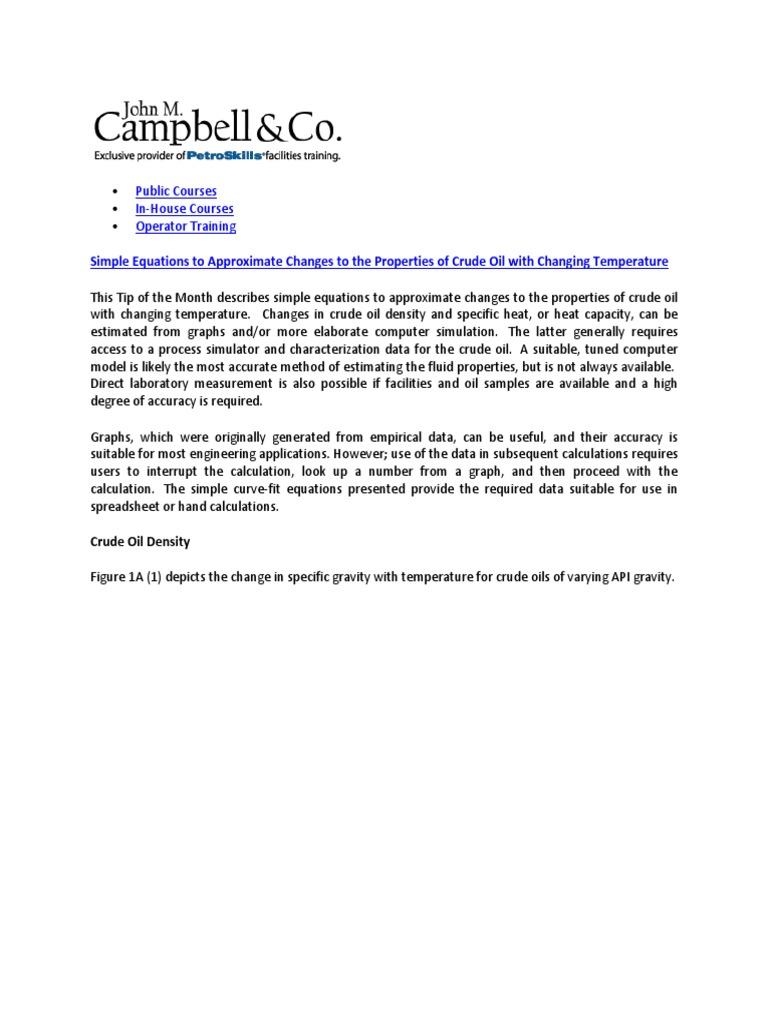 Crude Oil Properties | Heat Capacity | Computer Simulation