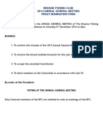 AGM Proxy form for 2014
