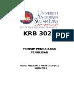 COVER  MODUL KRB 3023 PRINSIP PENGAJARAN PENULISAN.doc