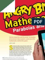 Angry Birds Mathematics - Parabolas Vectors