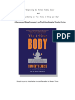 A Summary of Sleep Protocols From the 4 Hour Body by Timothy Ferriss PDF