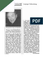1999 Franz von Kutschera in Leipzig