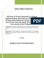 Bidding documents for new BOC systems & National Single Window