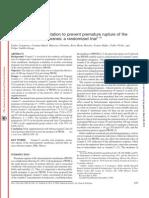 Vitamin C Supplementation to Prevent Premature Rupture of the Chorioamniotic Membranes