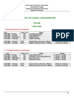 Jan-09 Exam Time Table