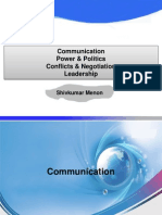 OB-I Communication- Power & Politics- Conflicts - Leadership.ppt