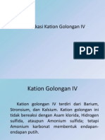 Kation Golongan IV