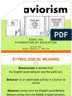 Behaviorism Educ202