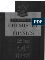 Hand book of Chemistry and Physics