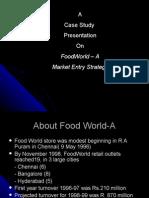 Retail ( FoodWorld CAse)