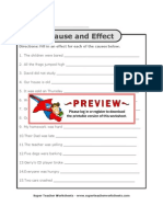 Cause and Effect Fill 2