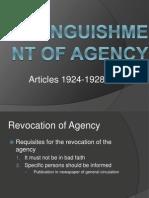 Extinguishment of Agency