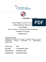 Business Environment Assessment of 2500 Words 2nd