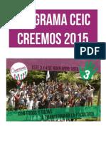 Programa CEIC CREEMOS 2015