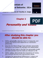 Personality and Values-robbins