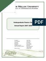 UFA's Annual Report 2007-2008