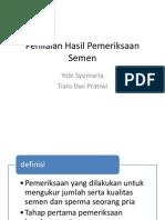 Penilaian Hasil Pemeriksaan Semen.pptx