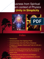 Consciousness From Spiritual and Context of Modern Physics