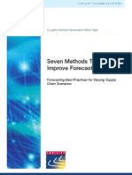 7 Methods That Improve Forecast Accuracy Whitepaper Logility2013