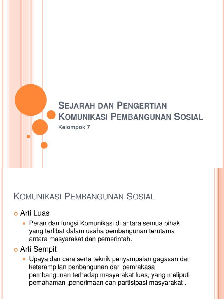 Apa yang dimaksud dengan komunikasi sosial pembangunan