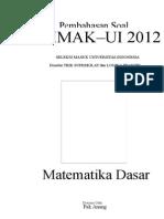 Pembahasan Soal SIMAK-UI 2012 Matematika Dasar kode 221.doc