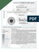language proficiency certificate