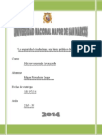 Ensayo - La seguridad ciudadana, un bien publico de alto costo - Edgar Mendoza Lugo 210N.docx